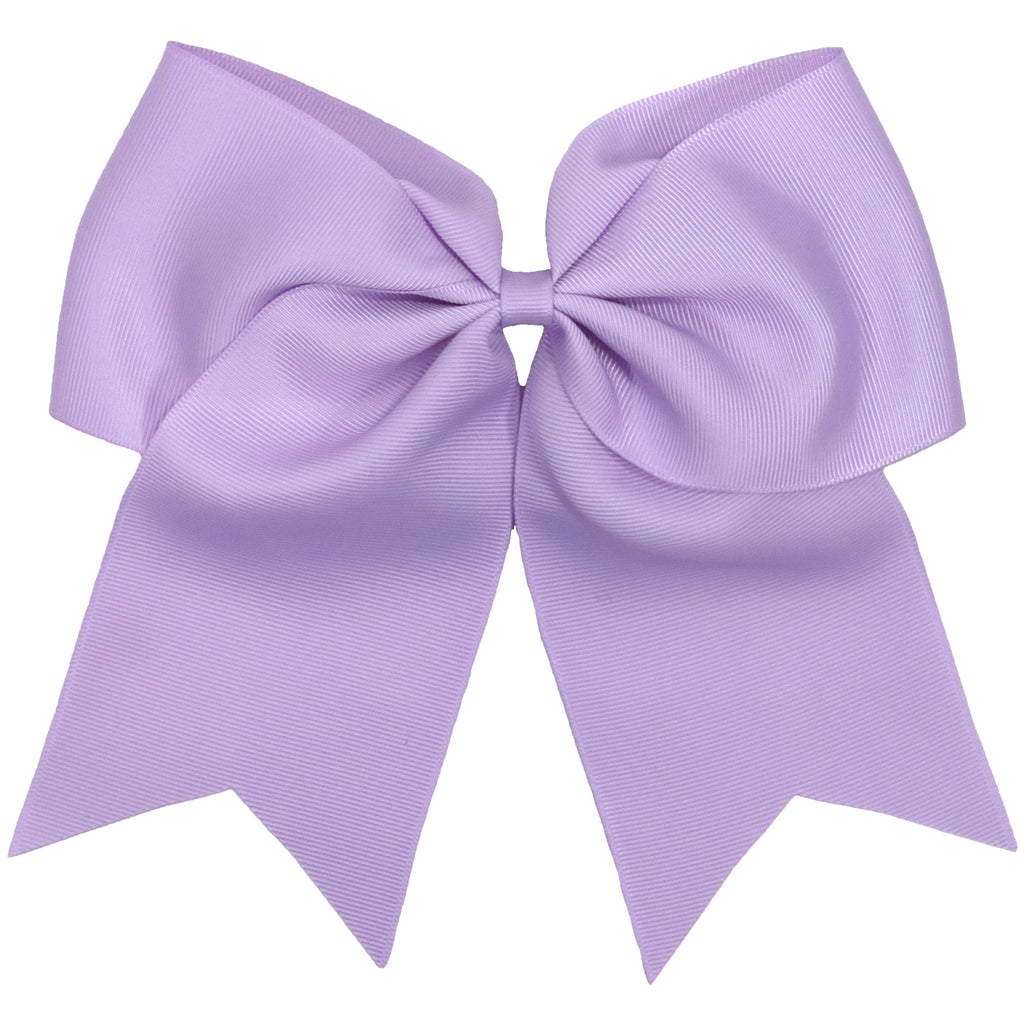 Light Purple Cheer Bow Large Hair Bows with Ponytail Holder
