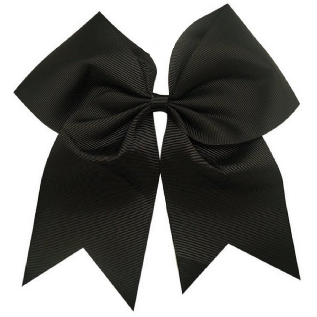 Black Cheer Bow with Clip Varsity Hair Bows for Girls