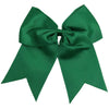"Cheer Bow for Girls 7"" Large Hair Bows with Ponytail Holder You Pick Colors & Quantities"