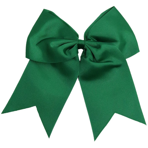"1 Forest Cheer Bow for Girls 7"" Large Hair Bows with Clip Holder Ribbon"