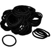 Hair Elastics 100 Pack Black