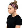 Cotton Headband Soft Stretch Headbands Sweat Absorbent Elastic Head Band Zebra Pink