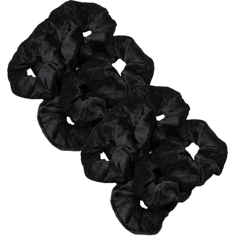 Velvet Scrunchies 12 Pack Black