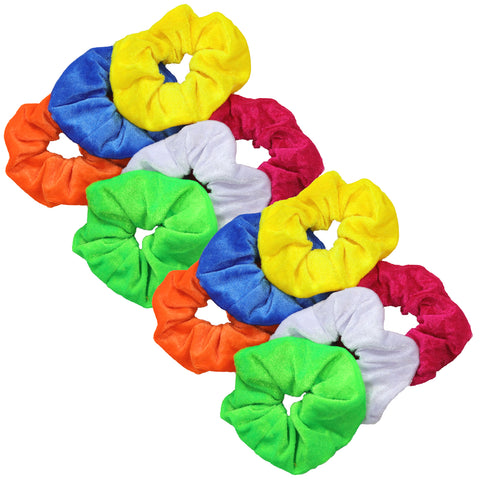 Velvet Scrunchies 12 Pack Brights