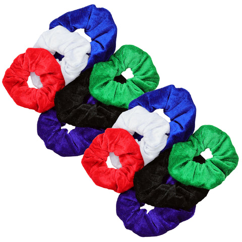 Velvet Scrunchies 12 Pack Basic