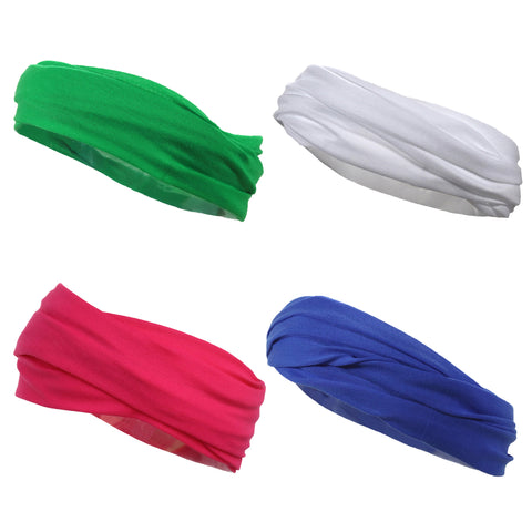 Multifunctional Headbands 4 Wide Yoga Running Workout Bright Colors
