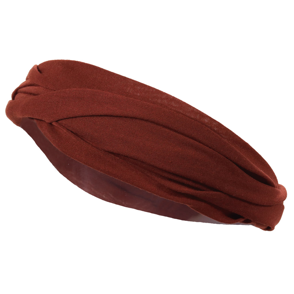 Mulitfunctional Headband Wide Yoga Running Workout Burgundy