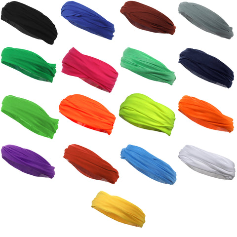 Multifunctional Headbands 50 Wide Yoga Running Workout You Pick Colors