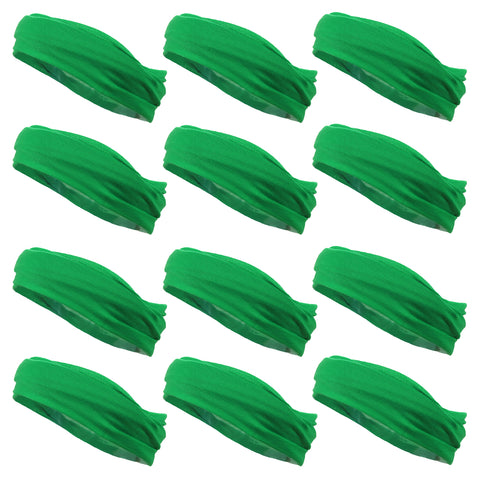 Multifunctional Headbands 12 Wide Yoga Running Workout Green