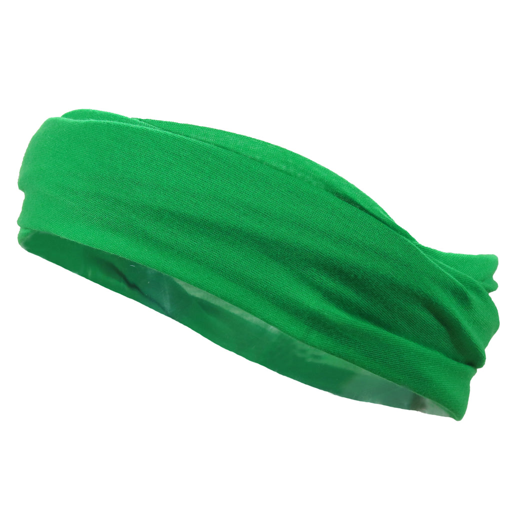 Multifunctional Headband Wide Yoga Running Workout Green