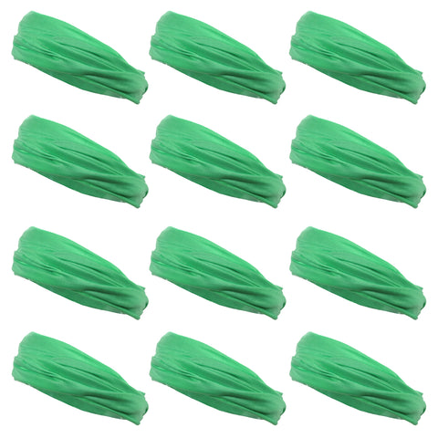 Multifunctional Headbands 12 Wide Yoga Running Workout Lime