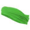 Multifunctional Headband Wide Yoga Running Workout Neon Green