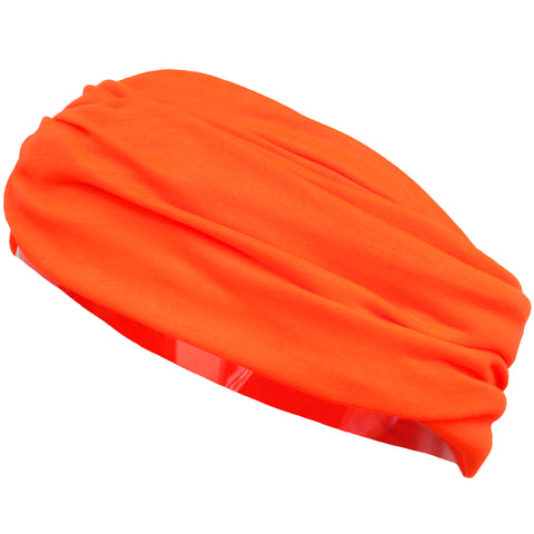 Multifunctional Headband Wide Yoga Running Workout Neon Orange