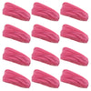 Multifunctional Headbands 12 Wide Yoga Running Workout Pink