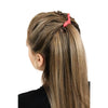 Hair Ties 20 Elastic Ponytail Holders Ribbon Knotted Bands Jet Black