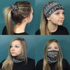 Multifunctional Headbands 12 Wide Yoga Running Workout Blue