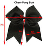 7 Inch Large Cheer Bow Hair Bows for Girls with Ponytail Holder Quality Ribbon Kenz Laurenz