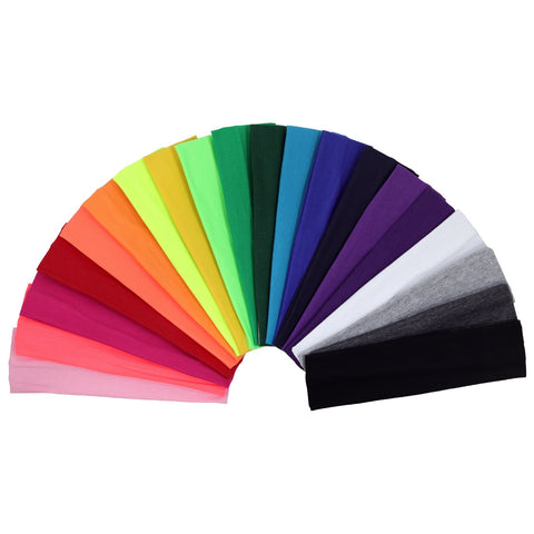 High Quality Cotton Headbands Blank to Custom Wholesale Elastic Sport Headband