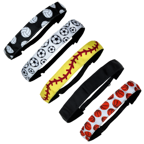 Adjustable Headband No Slip Grip You Pick Colors and Quantities