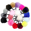 Pom Pom Ponytail Holder Rubber Bands Fluffy Pony Tail Hair Tie Elastic Hair Band Accessories You Pick Colors and Quantities