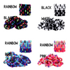 Hair Ties Seamless Terry Elastics 100 Pack Rainbow Blue