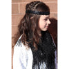 Sequin Headband Girls Headbands Sparkly Hair Head Bands Black Silver Teal