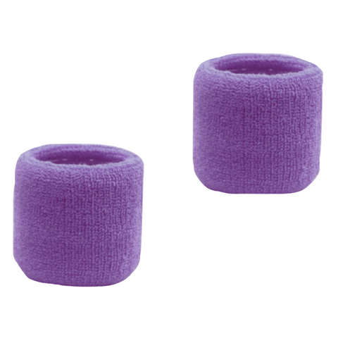 Sweatband for Wrist Terry Cotton Wristbands 2 Pack Medium Purple