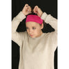 Wide Cotton Headband Soft Stretch Headbands Sweat Absorbent Elastic Head Band White