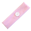Button Ear Saver Cotton Headband Soft Stretch For Nurses Healthcare Workers Light Pink