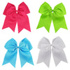 4 Bright Set Cheer Bows Large Hair Bow with Ponytail Holder Cheerleader Ponyholders Cheerleading Softball Accessories