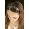 Glitter Headbands 12 Girls Headband Sparkly Hair Head Bands 6 Pack Zebra White Gold