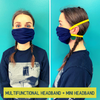DONATE a Face Mask Multifunctional Outdoor Indoor Seamless Bandana Wide Buff Running Workout Yoga Band You Pick Colors