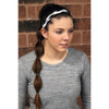 Non Slip Sports Headband Braided Athletic Head Band White