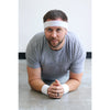 Sweatband Terry Cotton Sports Headband Sweat Absorbing Head Band Blue