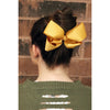 12 Silver Classic Cheer Bows Large 7 Inch Hair Bow with Clip