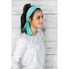 Tie Back Headbands 12 Moisture Wicking Athletic Sports Head Band Teal