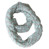 Chevron Zig Zag Scarf for Women for Hair Fashion Outfit Teal