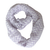 Chevron Zig Zag Scarf for Women for Hair Fashion Outfit Purple