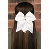 "Black Glitter Cheer Bow for Girls 7"" Large Hair Bows with Ponytail Holder Ribbon"