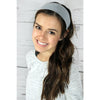 Wide Cotton Headbands 12 Soft Stretch Headband Sweat Absorbent Elastic Head Bands White