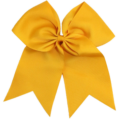 Cheer Hair Bow Large with Ponytail Holder Athletic Gold 1