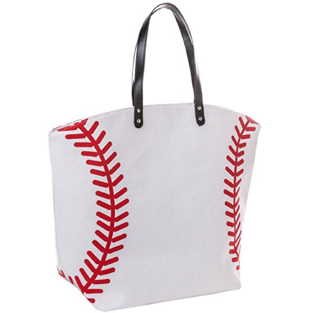 Baseball Tote Sports Bags Canvas Baseball Gifts for Girls Mom Coach Team Players