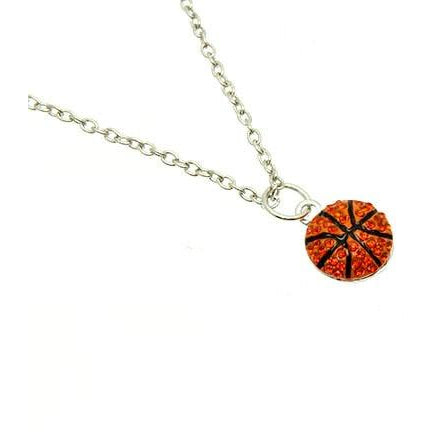 Basketball Necklace Rhinestone Small