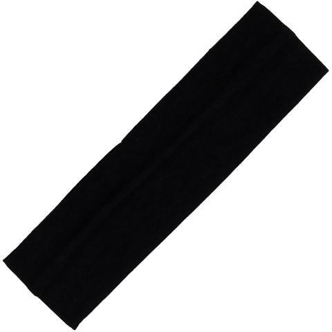Cotton Headband Soft Stretch Black