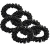 6 Black Spiral Hair Ties Elastic Coils Ponytail Holders Plastic Rubber Band