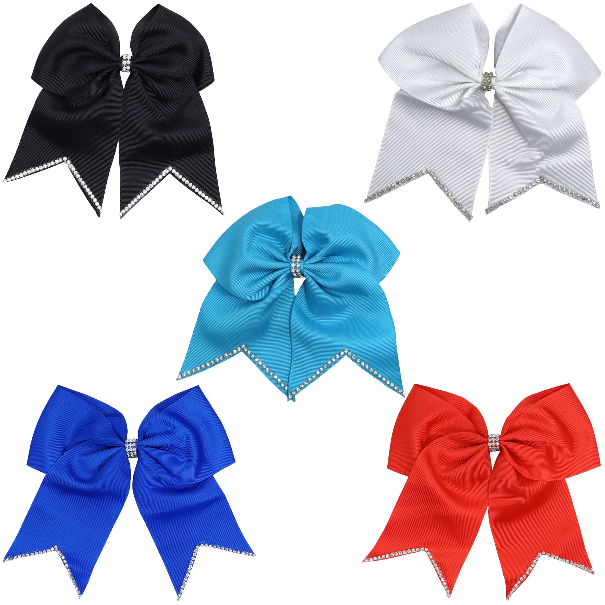 Cheer bow in 2 colors  Great Rec cheer bow  Competition cheer bow Custom team cheer bows  Green and Gold cheer bow Dance bow
