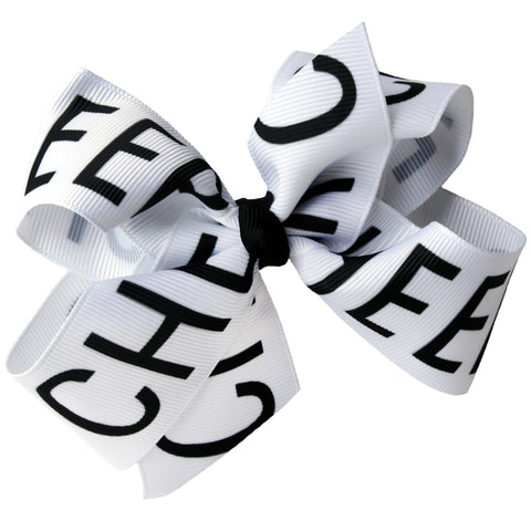 "4"" Classic Bow With Clip Holder Hair Bows Ribbon Bow Tie For Girls Cheer"