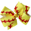 "4"" Classic Bow With Clip Holder Hair Bows Ribbon Bow Tie For Girls Softball Seam"