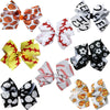 "4"" Classic Bow With Clip Holder Hair Bows Ribbon Bow Tie For Girls Softball Balls"