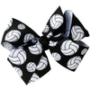 "4"" Classic Bow With Clip Holder Hair Bows Ribbon Bow Tie For Girls Volleyball"